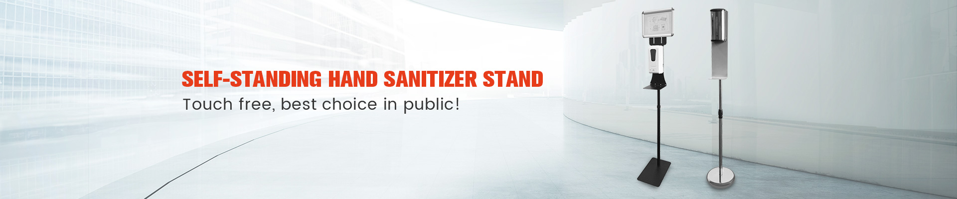 SELF-STANDING HAND SANITIZER STAND